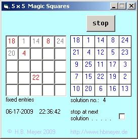 Magic Squares of order 5