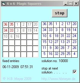 Magic Squares of order 6